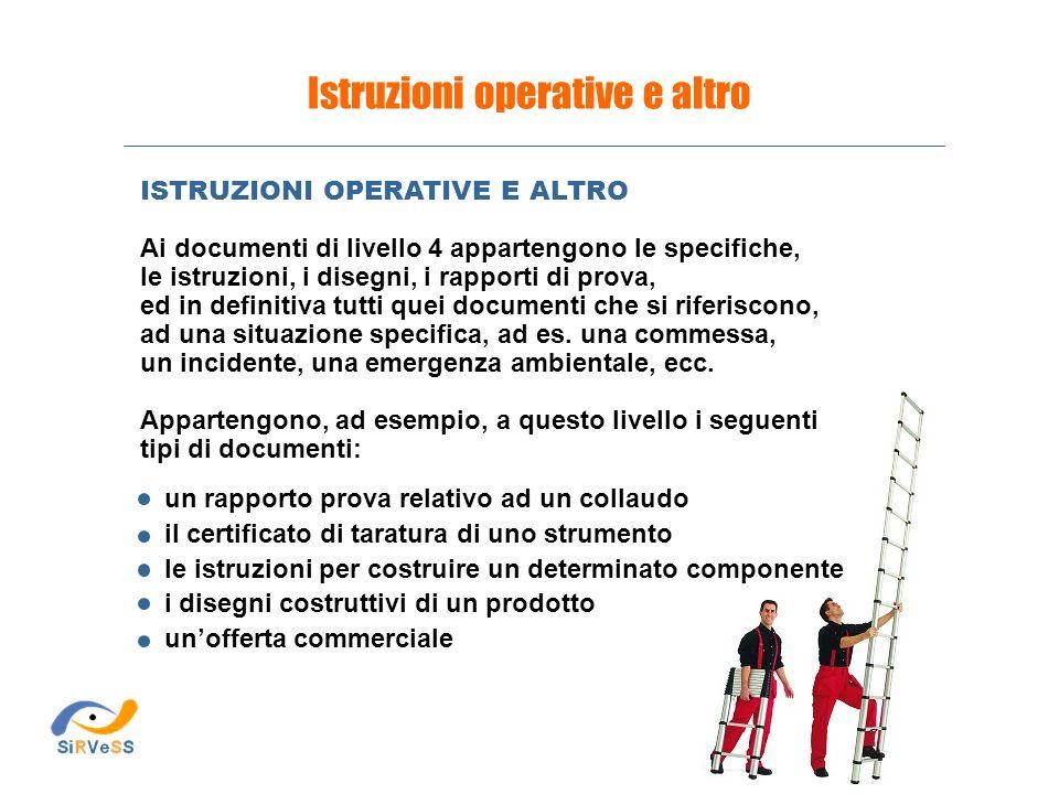 Istruzioni operative e altro