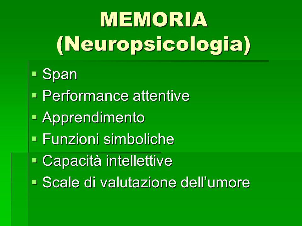 MEMORIA (Neuropsicologia)