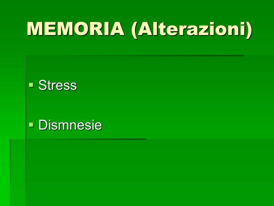 MEMORIA (Alterazioni)