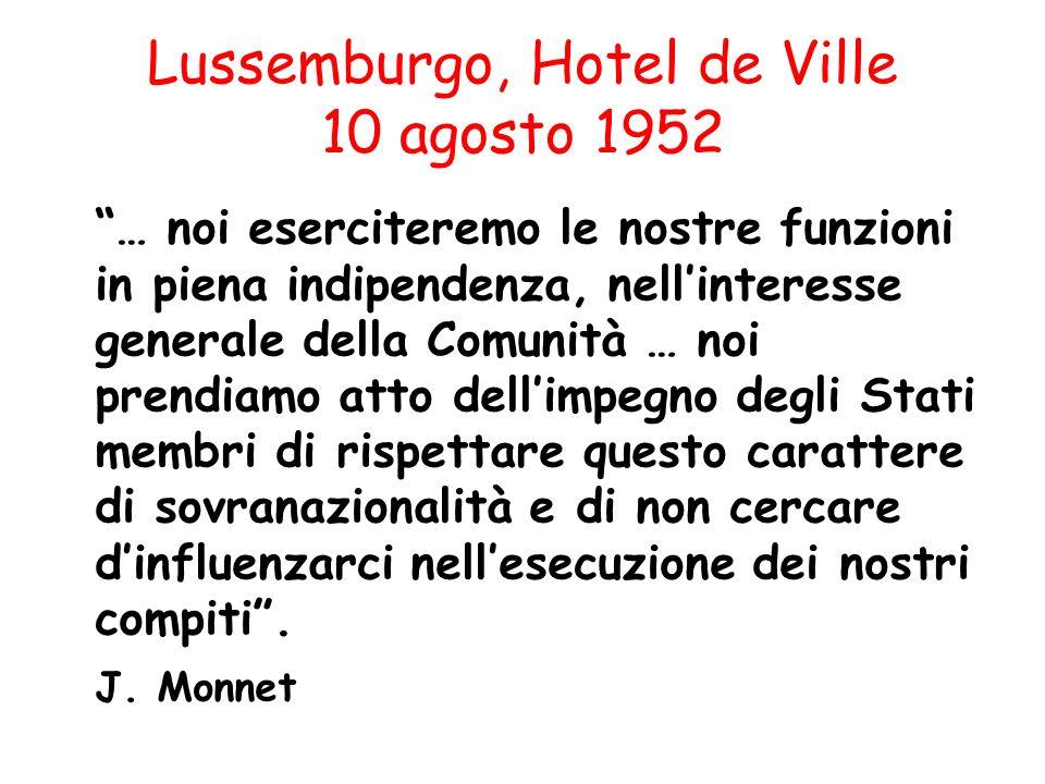 Lussemburgo, Hotel de Ville 10 agosto 1952