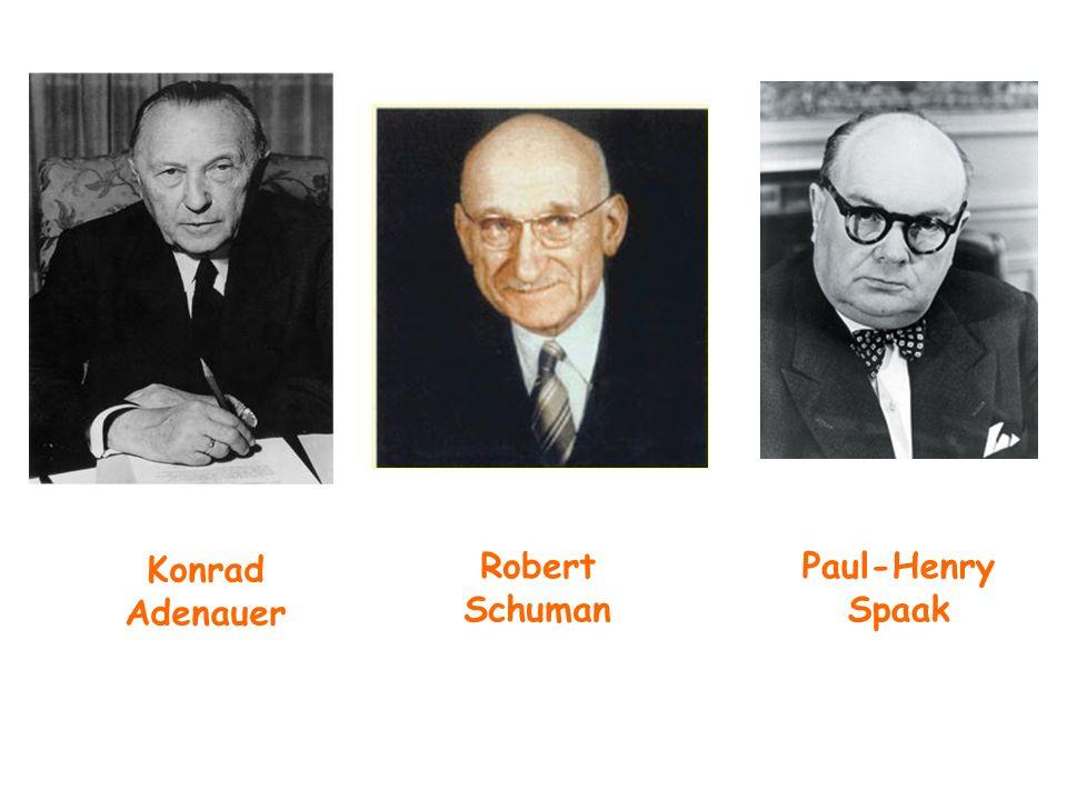 Konrad Adenauer Robert Schuman Paul-Henry Spaak