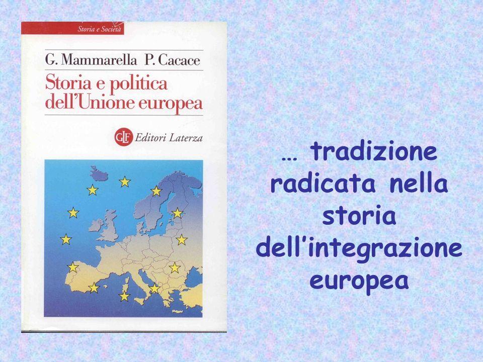 … tradizione radicata nella storia dell'integrazione europea