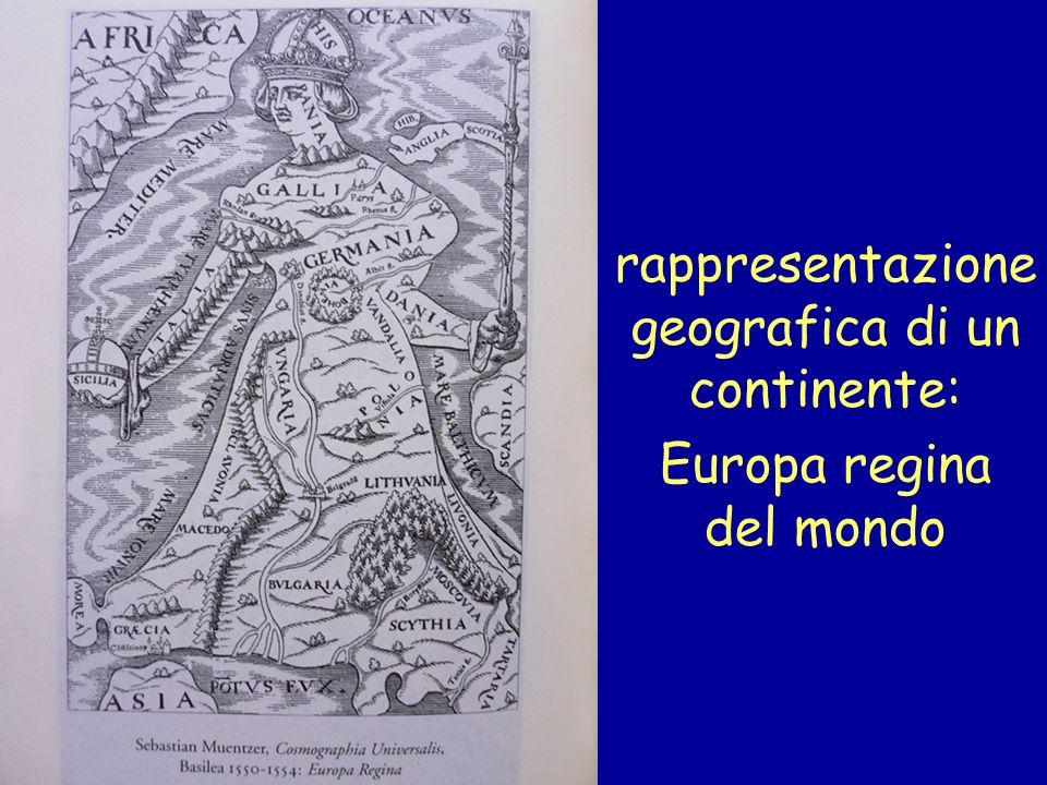 rappresentazione geografica di un continente: