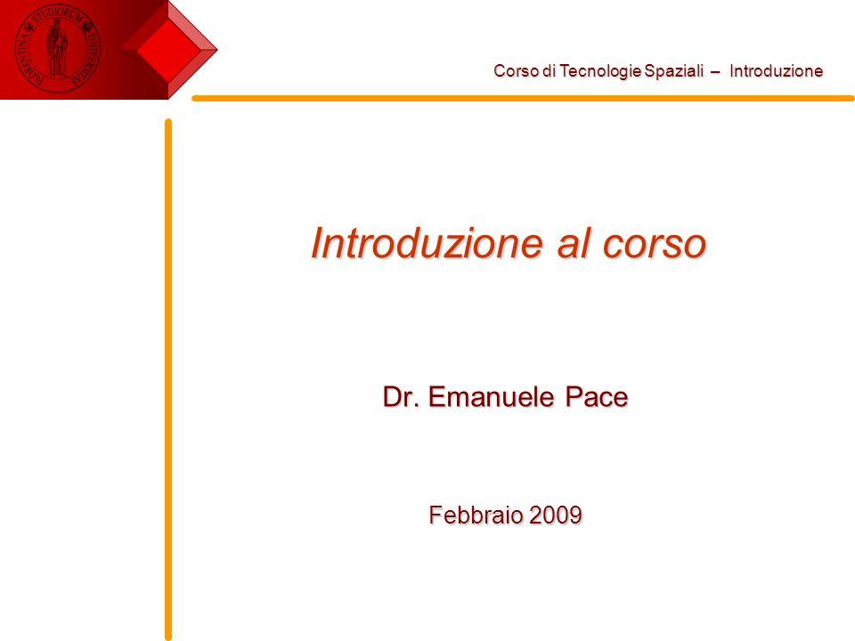 Dr. Emanuele Pace Febbraio 2009