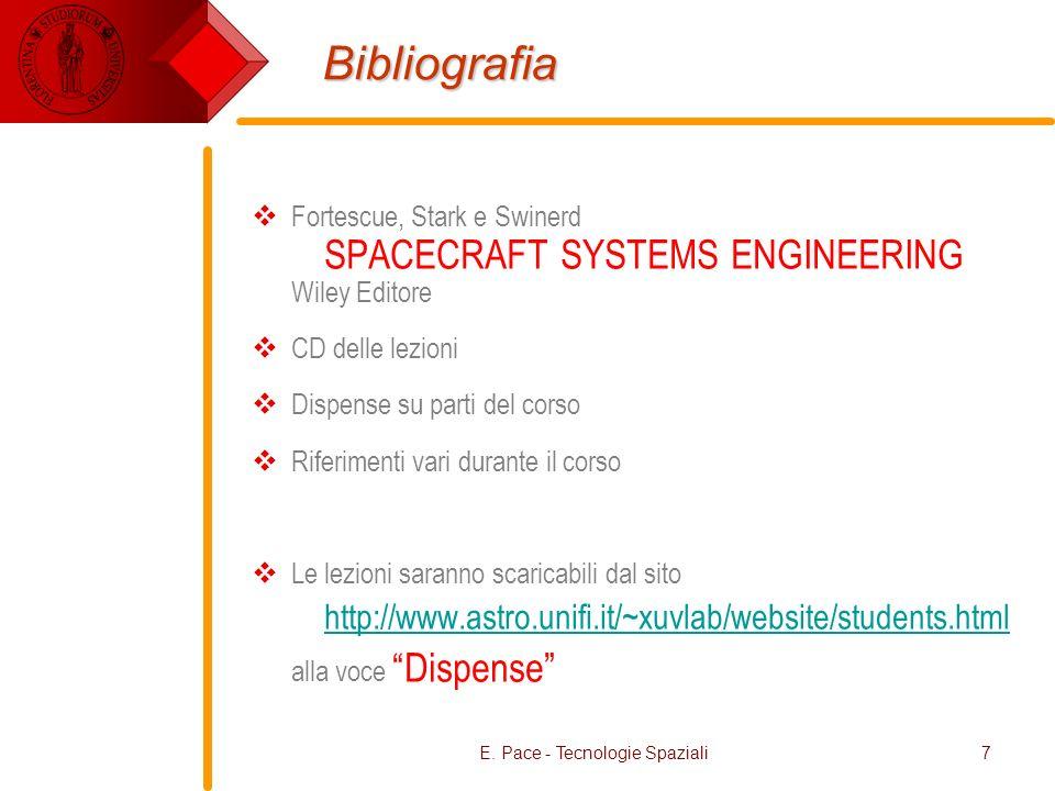 E. Pace - Tecnologie Spaziali
