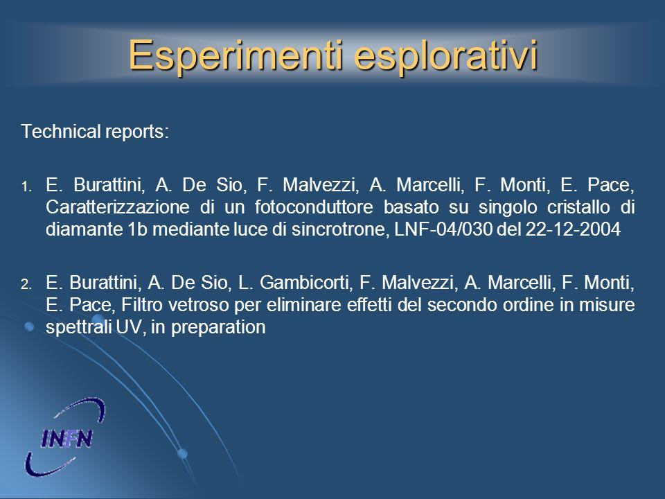 Esperimenti esplorativi