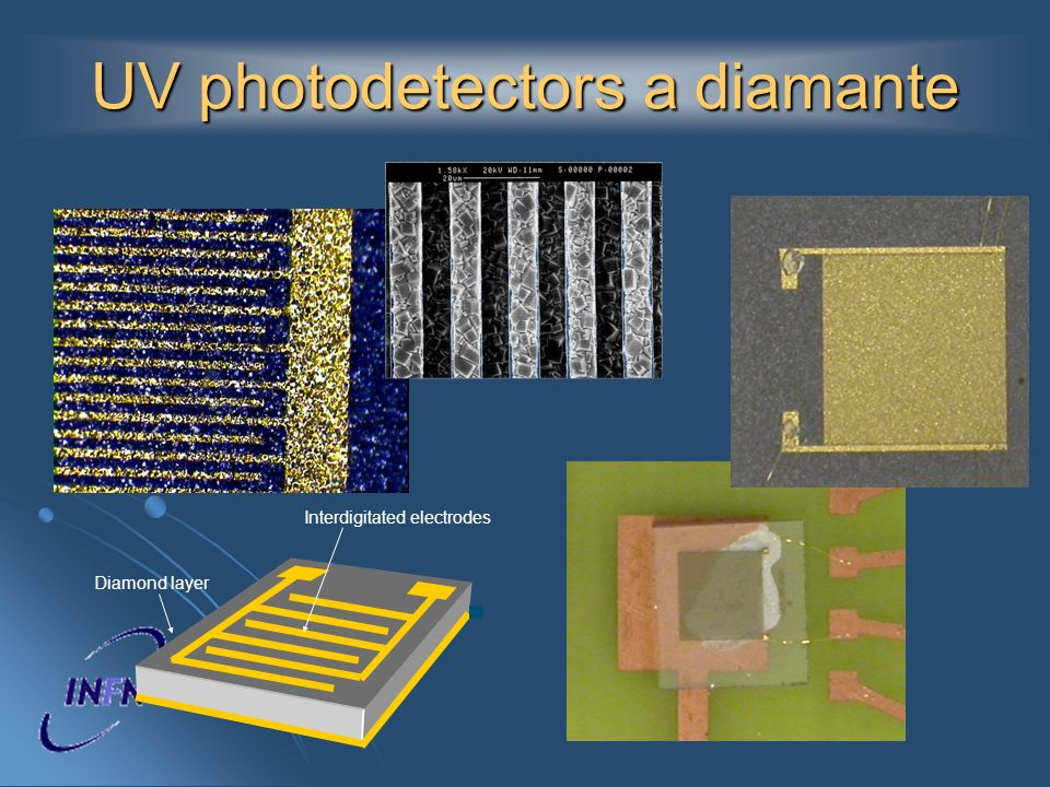 UV photodetectors a diamante