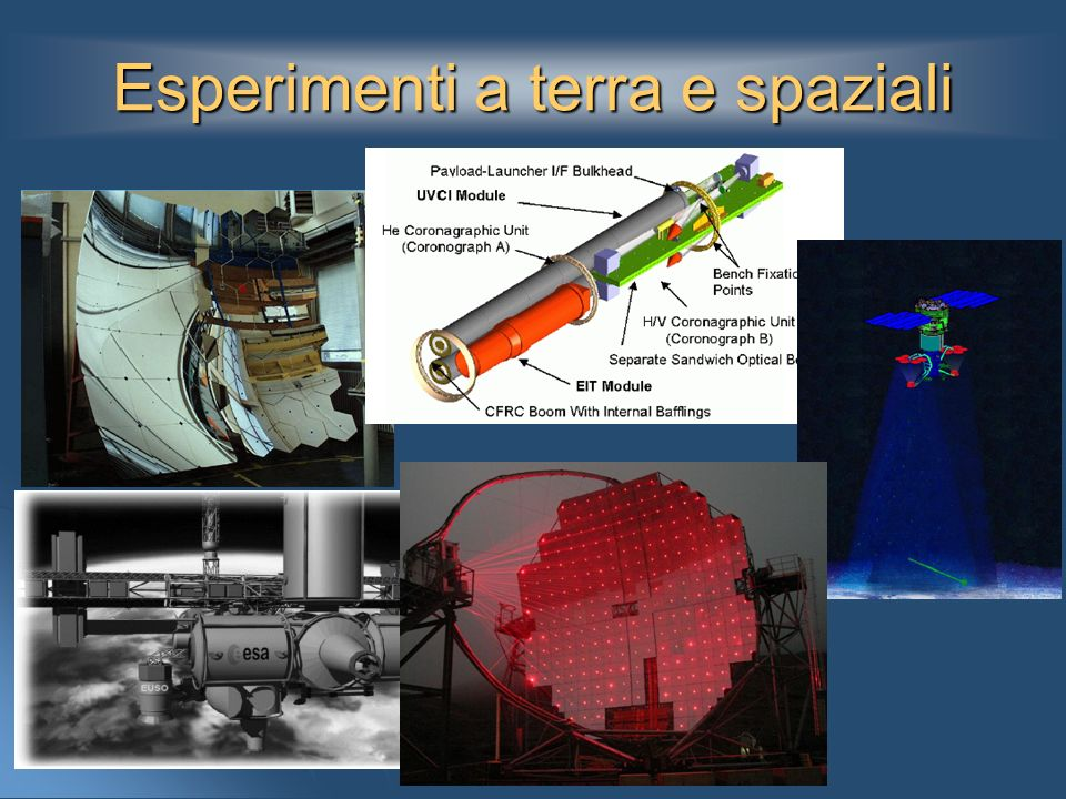 Esperimenti a terra e spaziali