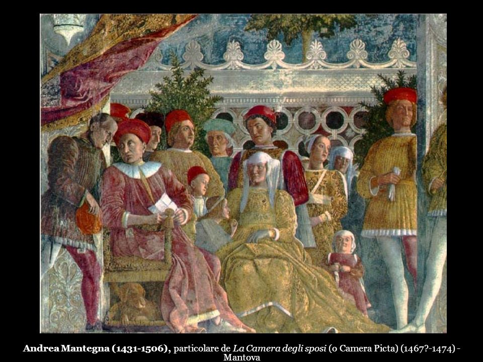 Andrea Mantegna (1431-1506), particolare de La Camera degli sposi (o Camera Picta) (1467 -1474) - Mantova