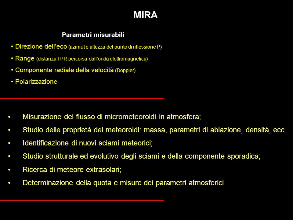 MIRA Misurazione del flusso di micrometeoroidi in atmosfera;