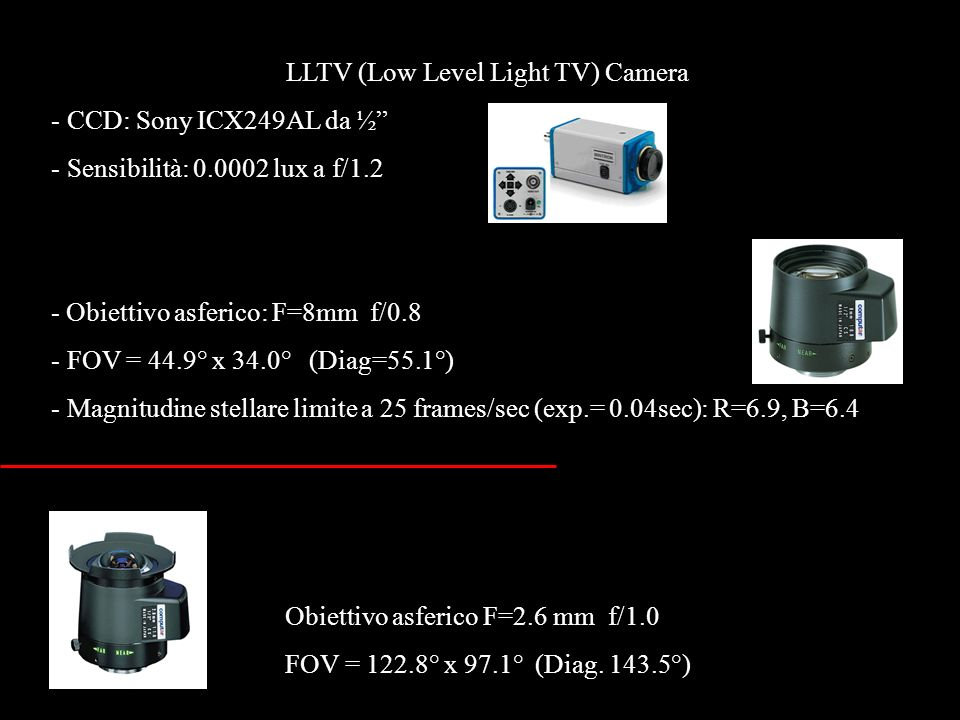 LLTV (Low Level Light TV) Camera