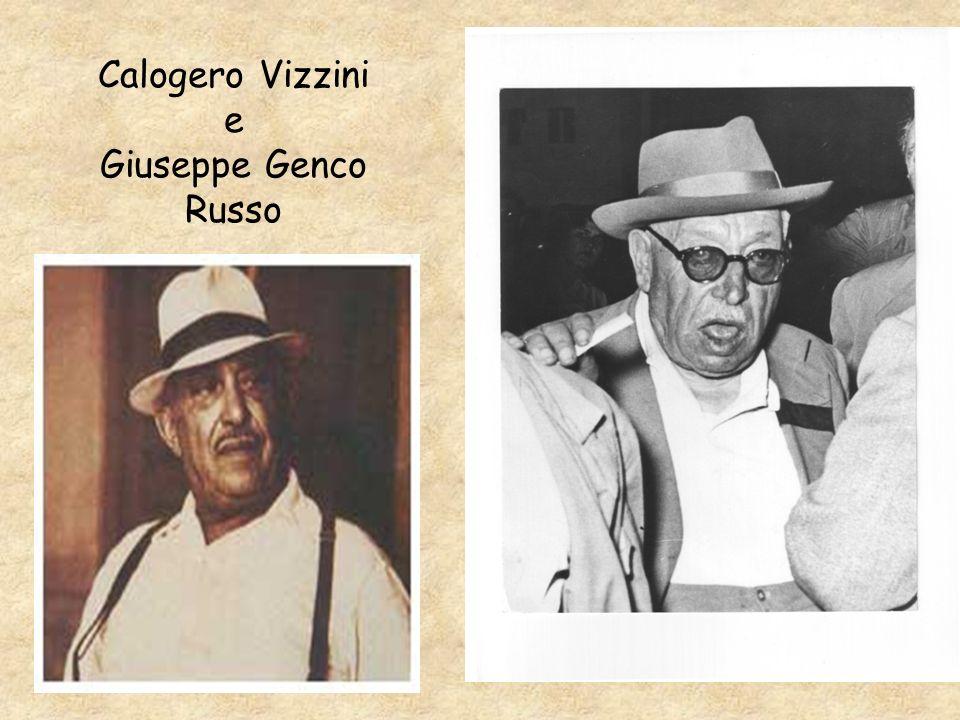 Calogero Vizzini e Giuseppe Genco Russo