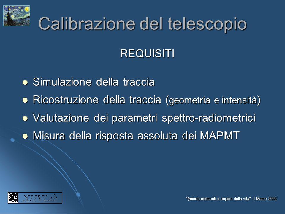 Calibrazione del telescopio
