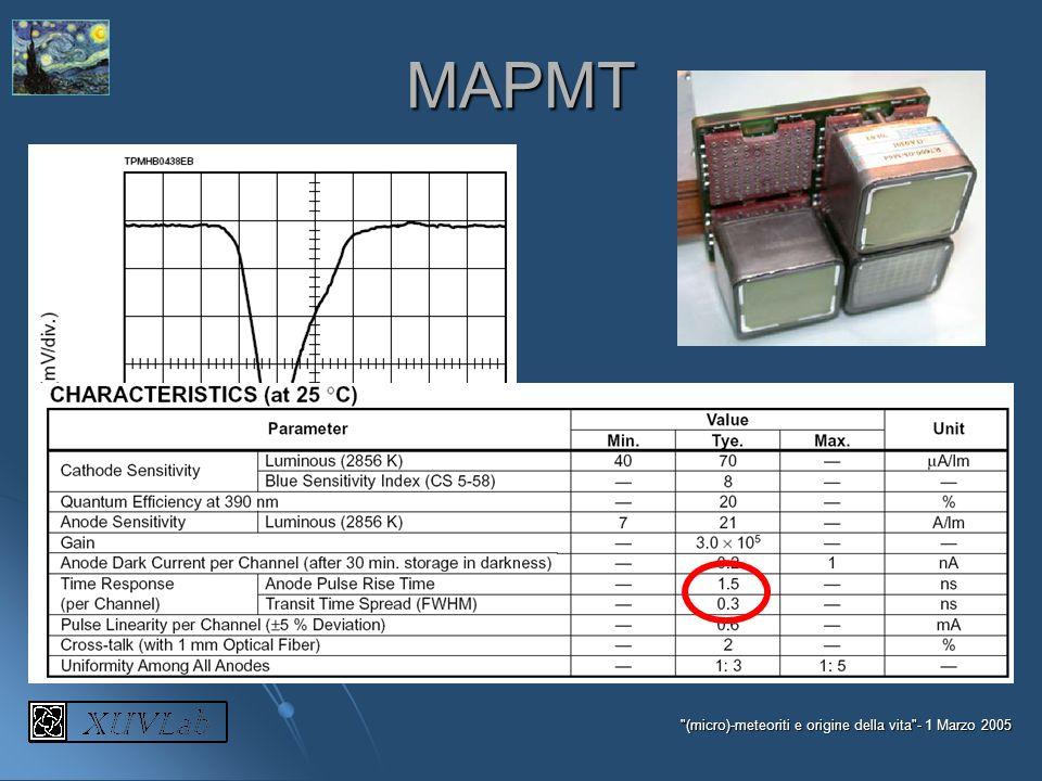 MAPMT (micro)-meteoriti e origine della vita - 1 Marzo 2005