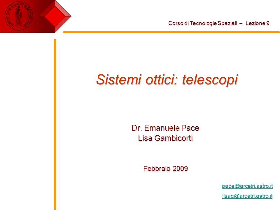 Sistemi ottici: telescopi
