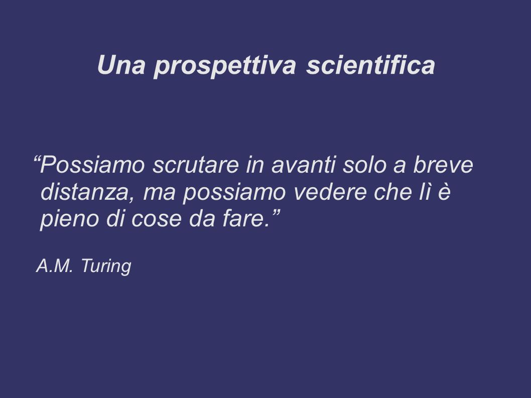 Una prospettiva scientifica