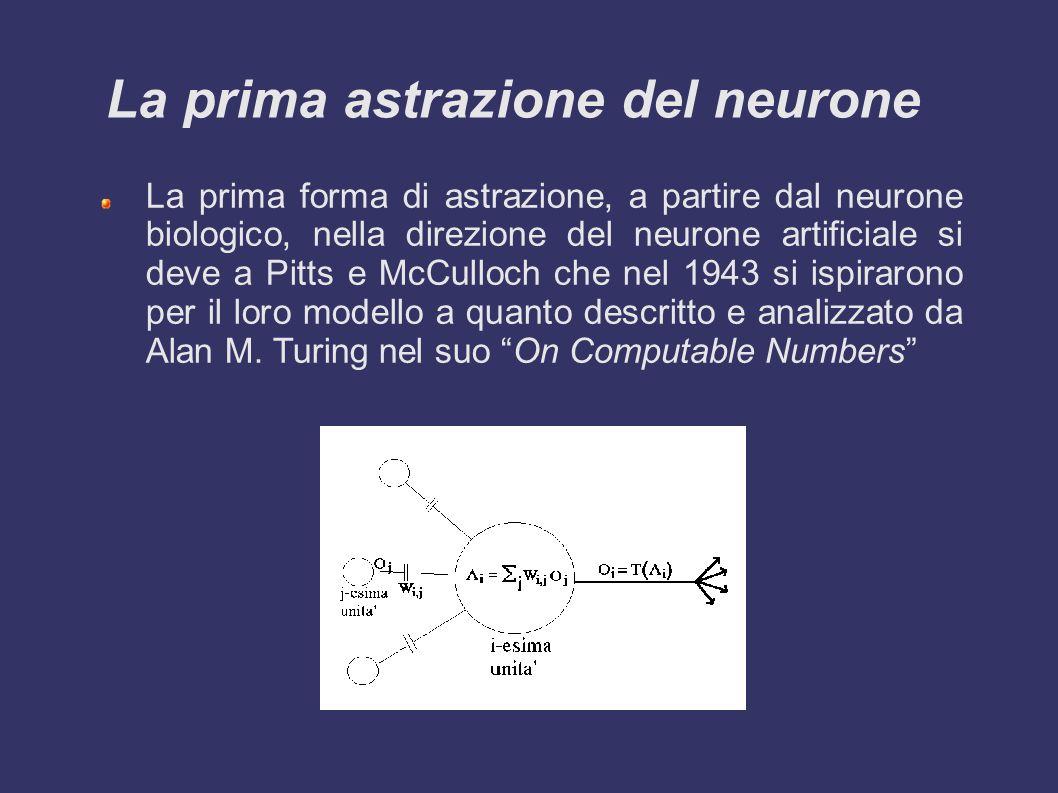 La prima astrazione del neurone