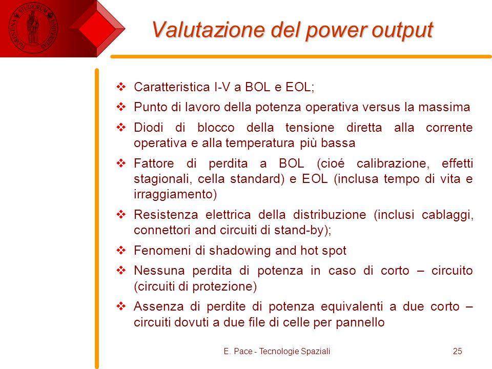 Valutazione del power output