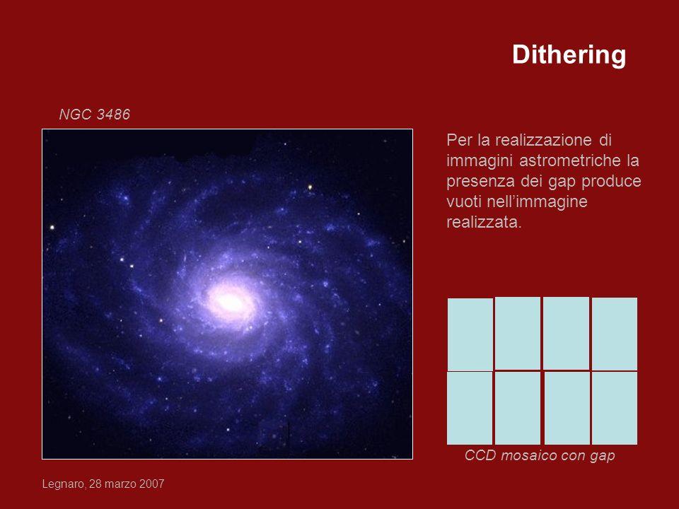 Dithering NGC 3486. Per la realizzazione di immagini astrometriche la presenza dei gap produce vuoti nell'immagine realizzata.
