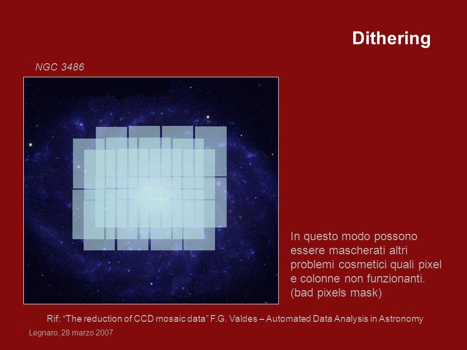 Dithering NGC 3486. In questo modo possono essere mascherati altri problemi cosmetici quali pixel e colonne non funzionanti.