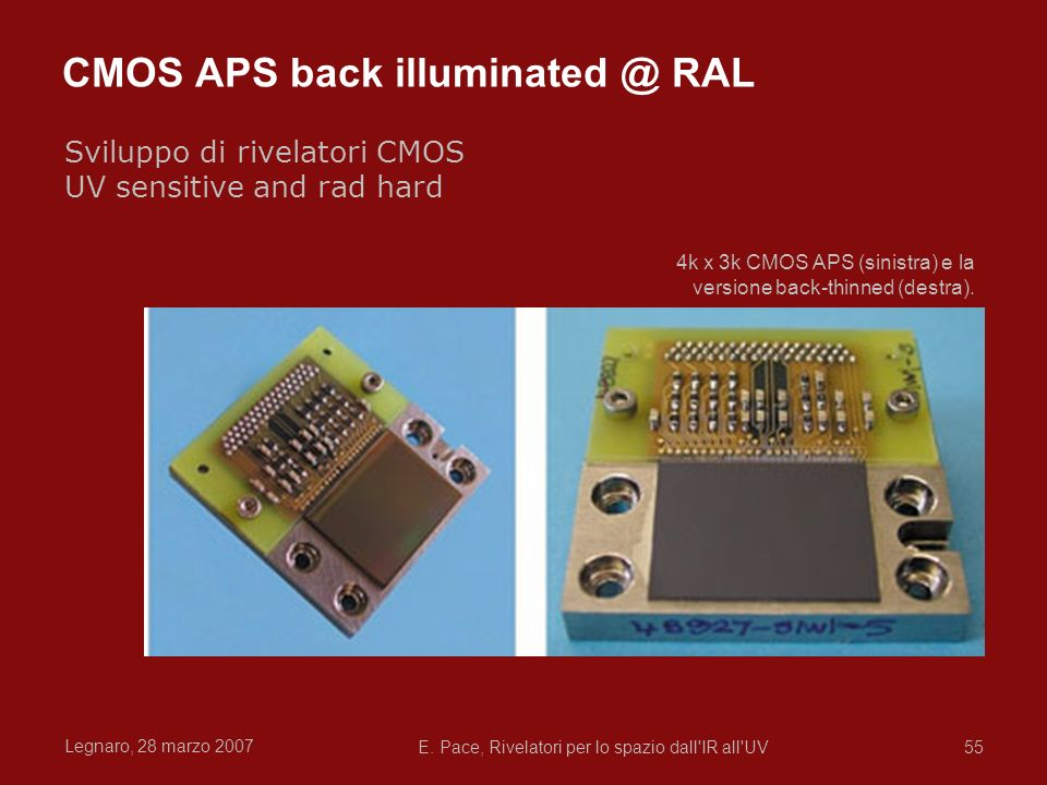 CMOS APS back illuminated @ RAL