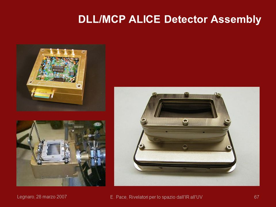 DLL/MCP ALICE Detector Assembly