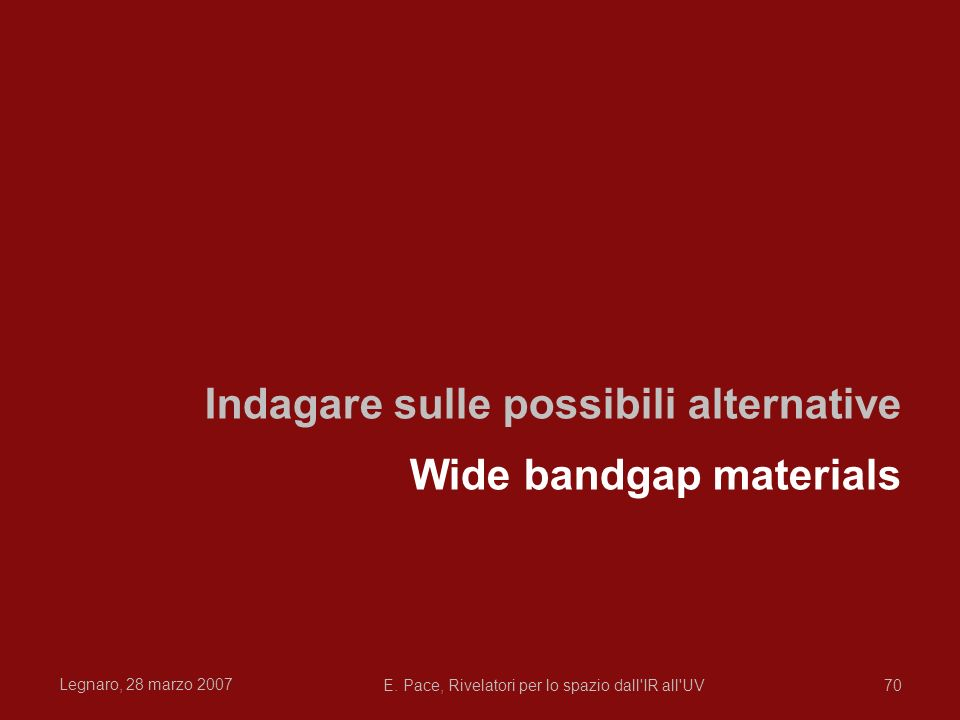 Indagare sulle possibili alternative Wide bandgap materials