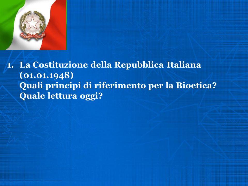 La Costituzione della Repubblica Italiana (01. 01