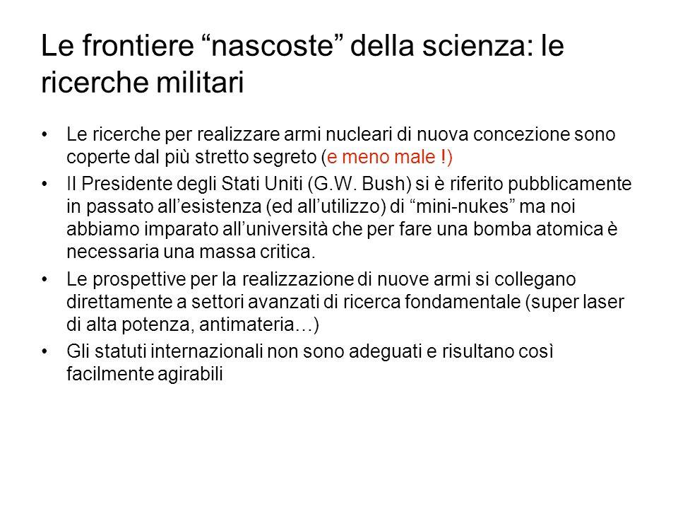Le frontiere nascoste della scienza: le ricerche militari