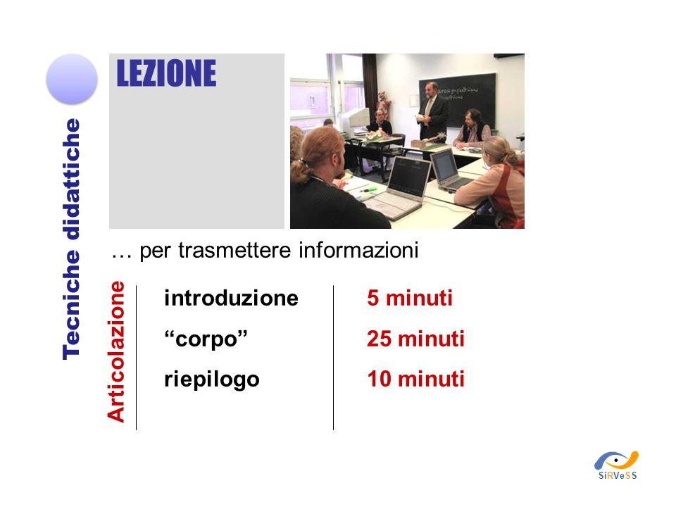 LEZIONE Tecniche didattiche … per trasmettere informazioni