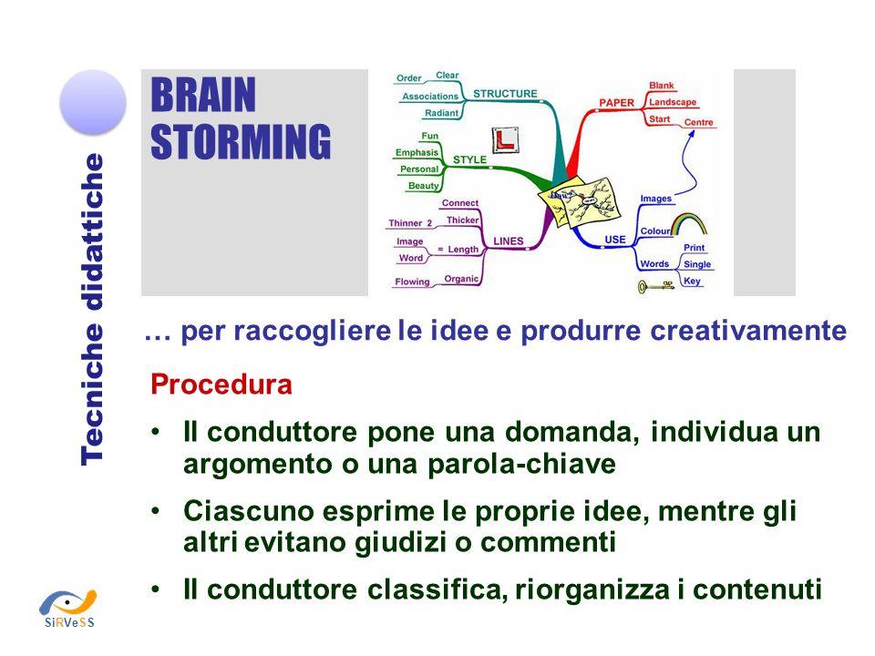 BRAIN STORMING Tecniche didattiche