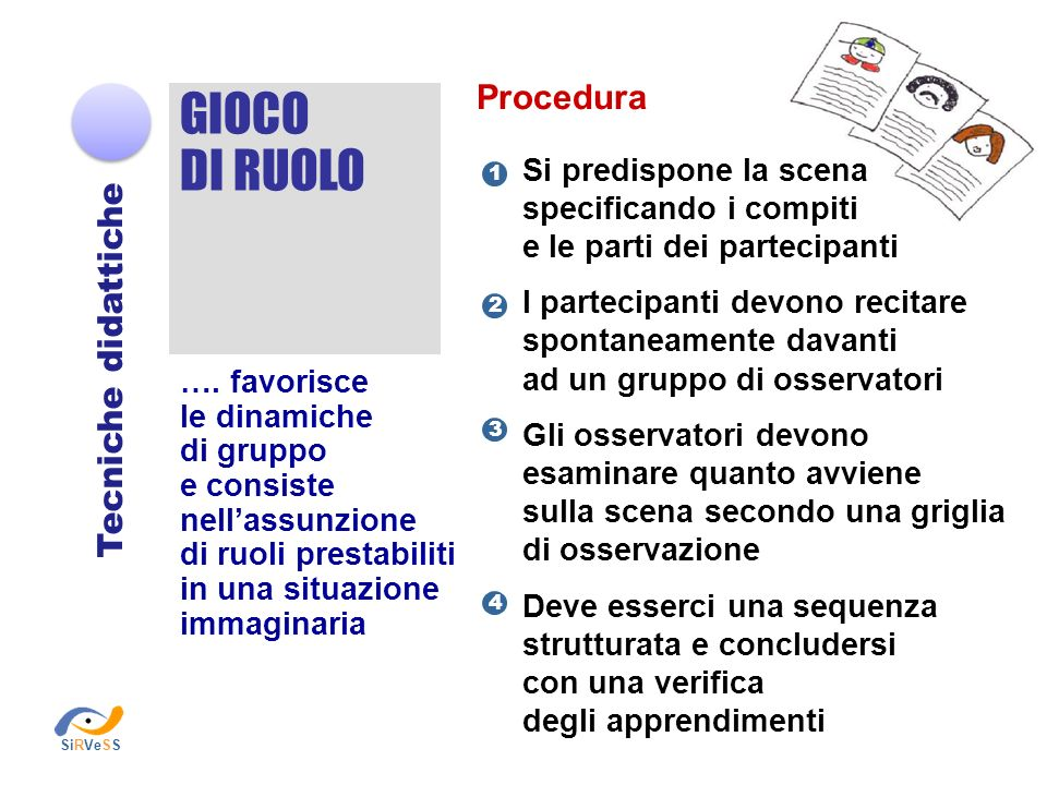 GIOCO DI RUOLO Procedura Tecniche didattiche