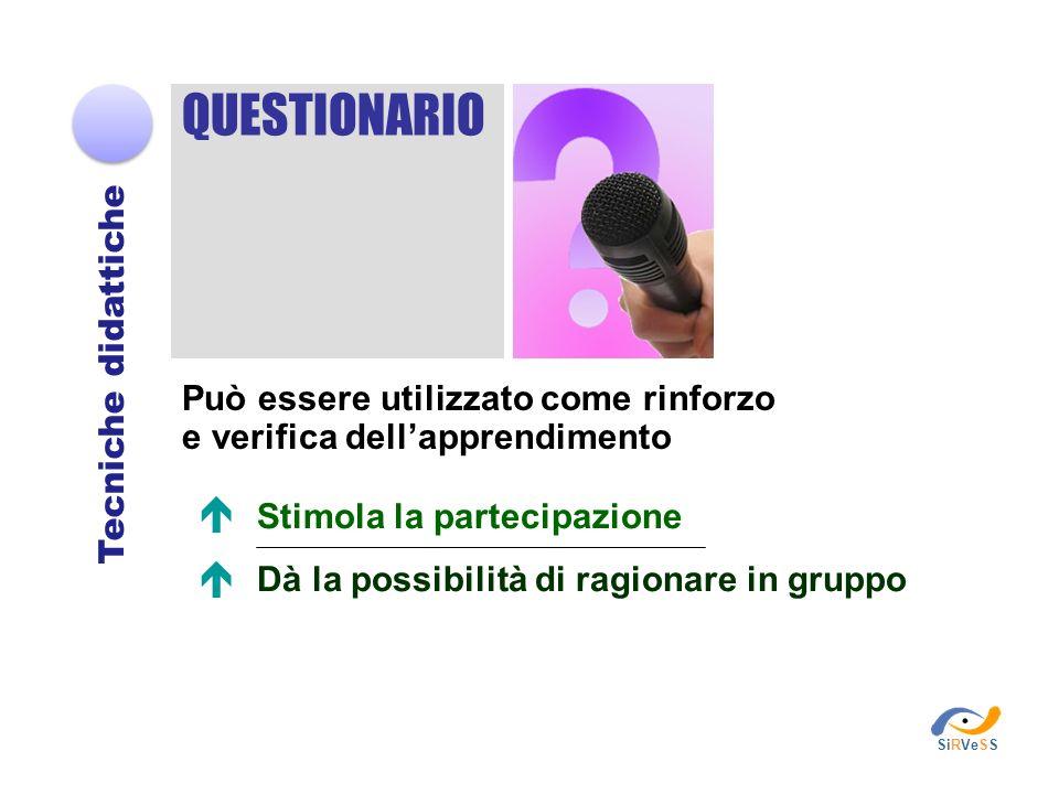 QUESTIONARIO   Tecniche didattiche
