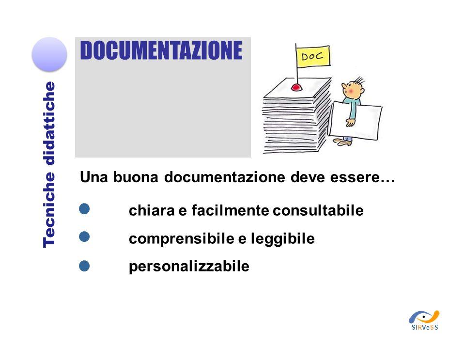 DOCUMENTAZIONE Tecniche didattiche