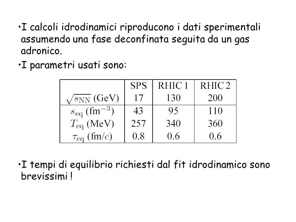 I calcoli idrodinamici riproducono i dati sperimentali assumendo una fase deconfinata seguita da un gas adronico.