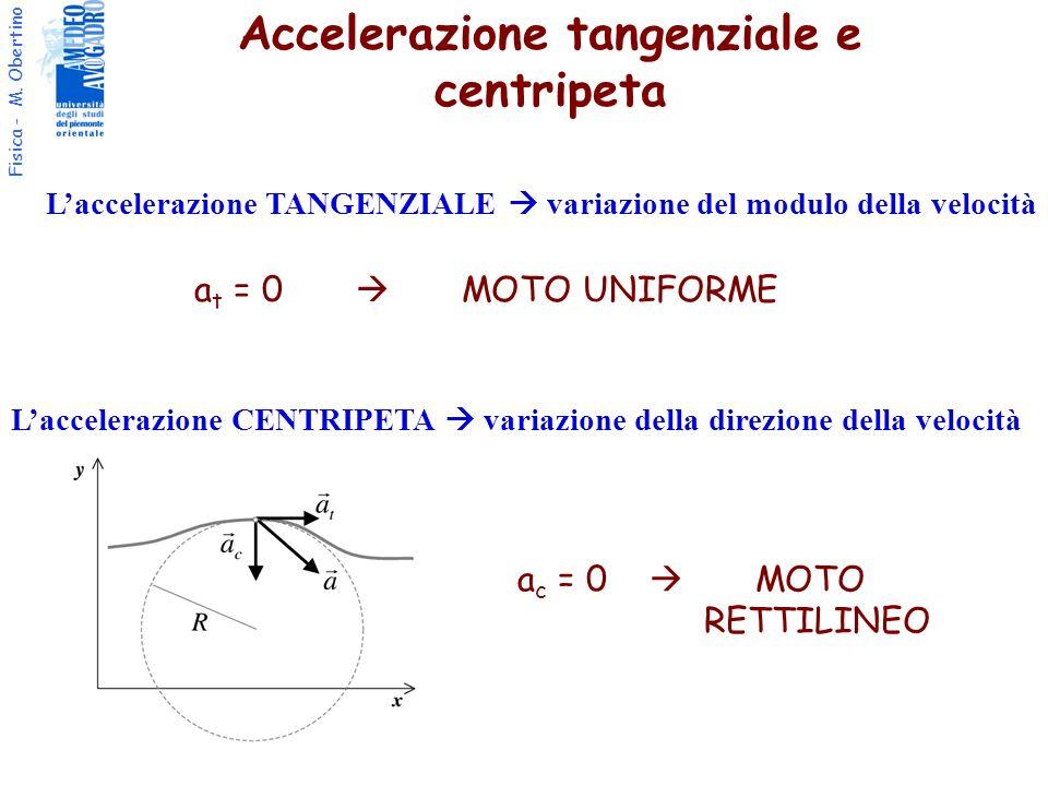 Accelerazione tangenziale e centripeta
