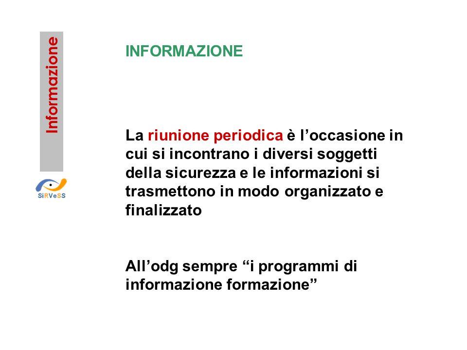 All'odg sempre i programmi di informazione formazione Informazione
