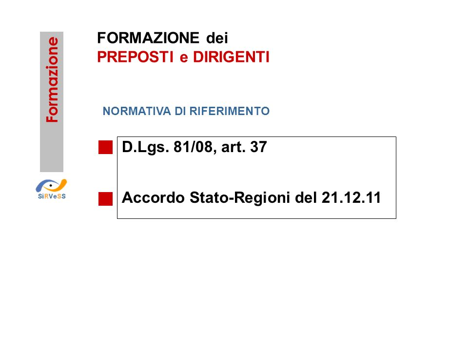 Accordo Stato-Regioni del 21.12.11