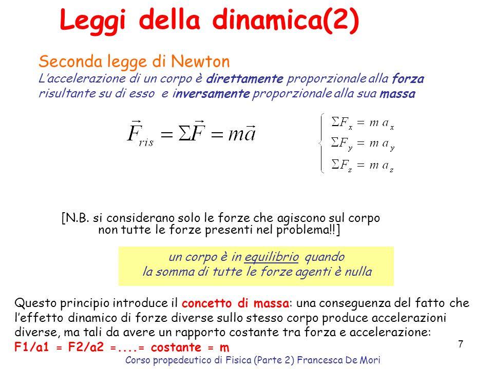 Leggi della dinamica(2)