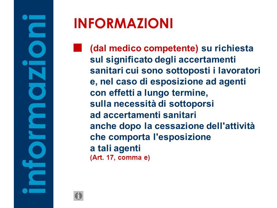 informazioni INFORMAZIONI
