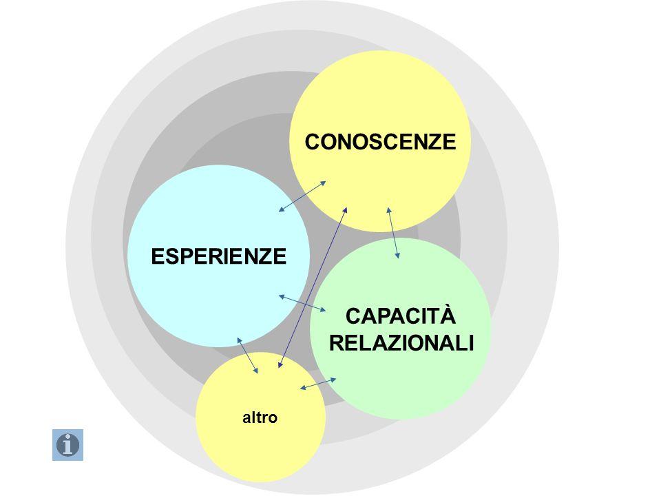 CONOSCENZE ESPERIENZE CAPACITÀ RELAZIONALI