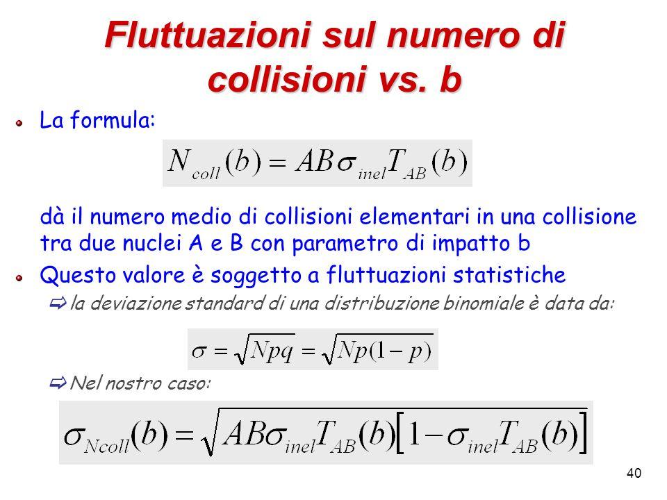 Fluttuazioni sul numero di collisioni vs. b