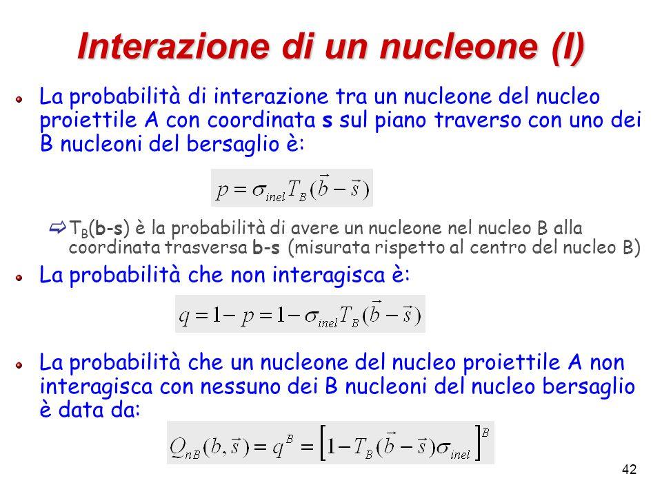 Interazione di un nucleone (I)