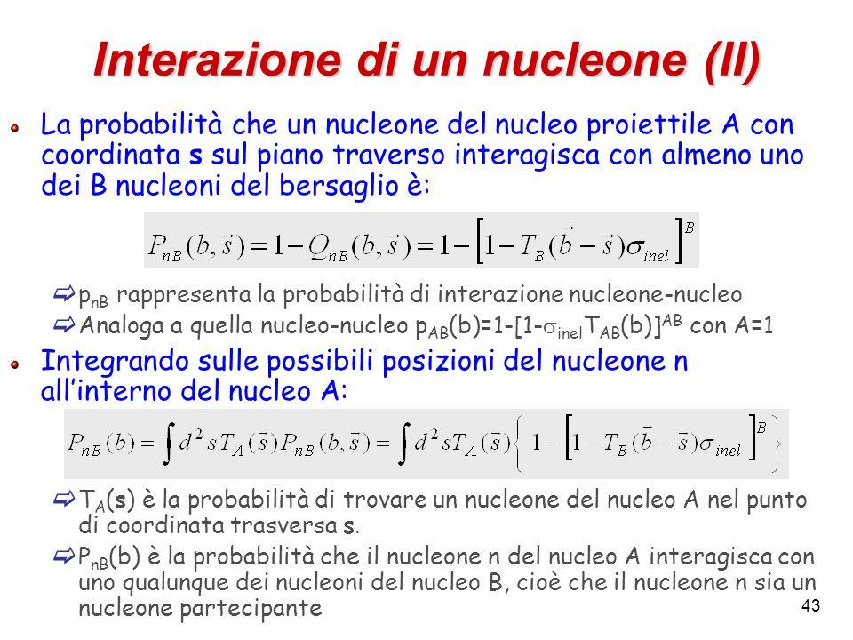 Interazione di un nucleone (II)