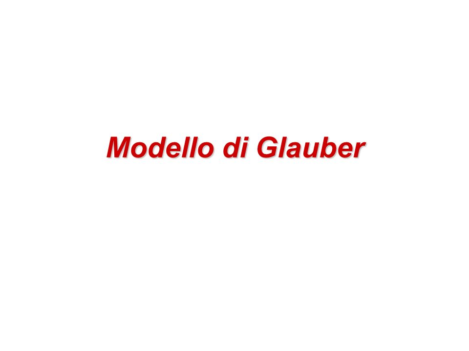 Modello di Glauber