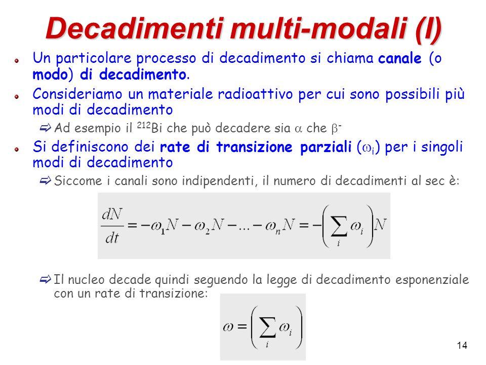 Decadimenti multi-modali (I)