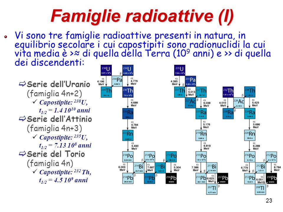 Famiglie radioattive (I)