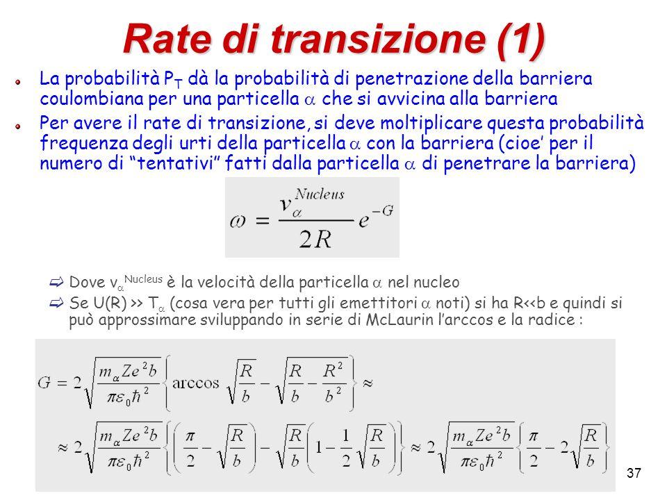 Rate di transizione (1)