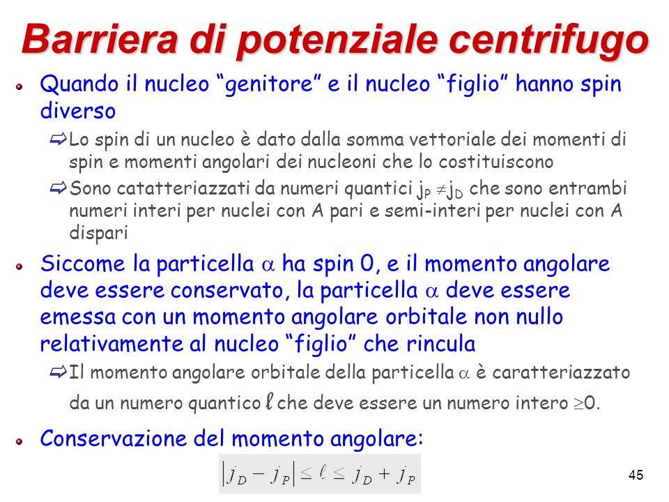 Barriera di potenziale centrifugo
