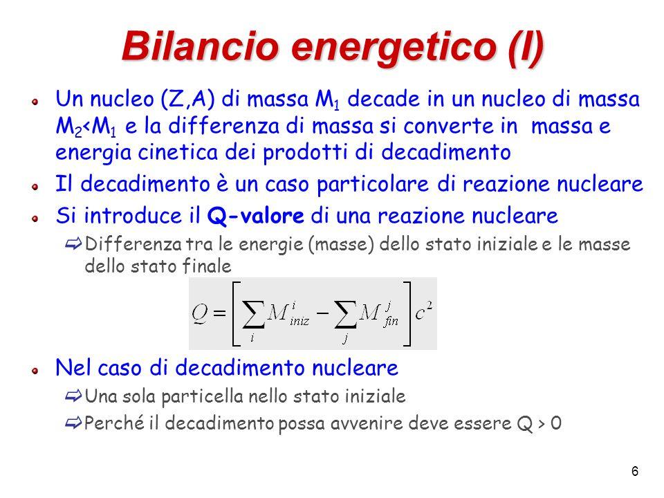Bilancio energetico (I)
